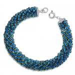 bratara_sticla_boemia-albastru_turcoaz_argint