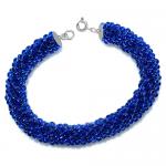 bratara_sticla_boemia_blue_marine_argint