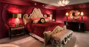 Dormitoare în nuanțe de roșu